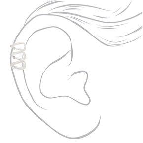 "Silver 1"" Textured Ear Cuff,"