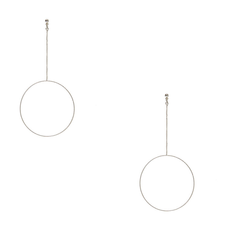 Open Circle Drop Earrings,