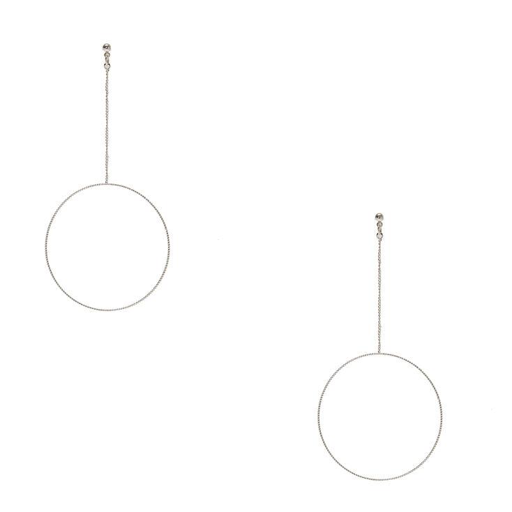 Open Circle Drop Earrings,
