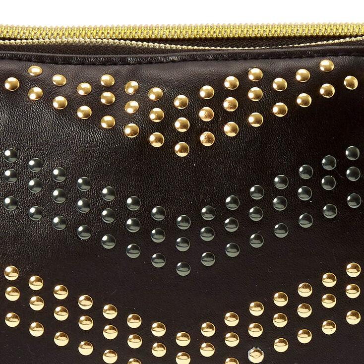 Gold Embellished Flower Headband - Black,