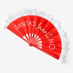 Santa's Favorite Ho Folding Fan - Red,