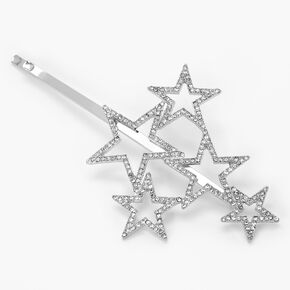 Silver Rhinestone Star Cluster Hair Pin,