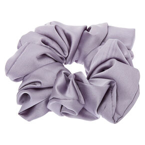 Giant Satin Hair Scrunchie - Gray,