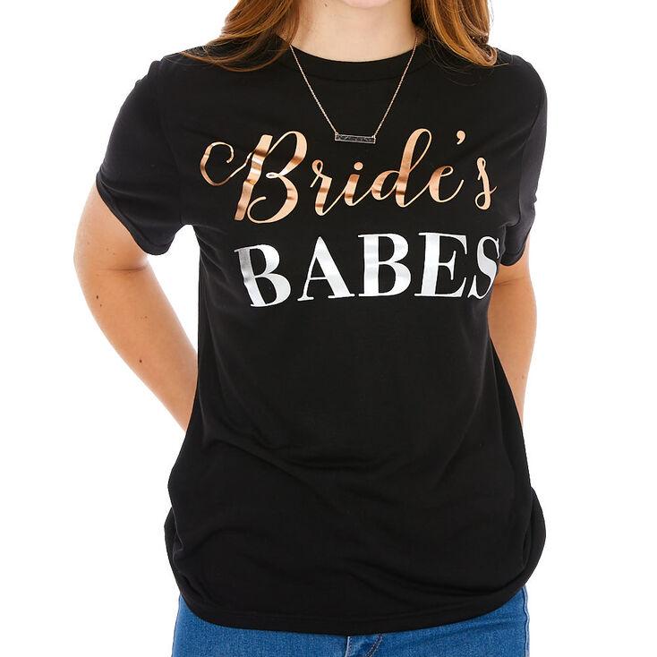 Bride's Babes T-Shirt - Black,