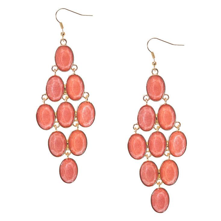 Blush Resin Drop earrings,