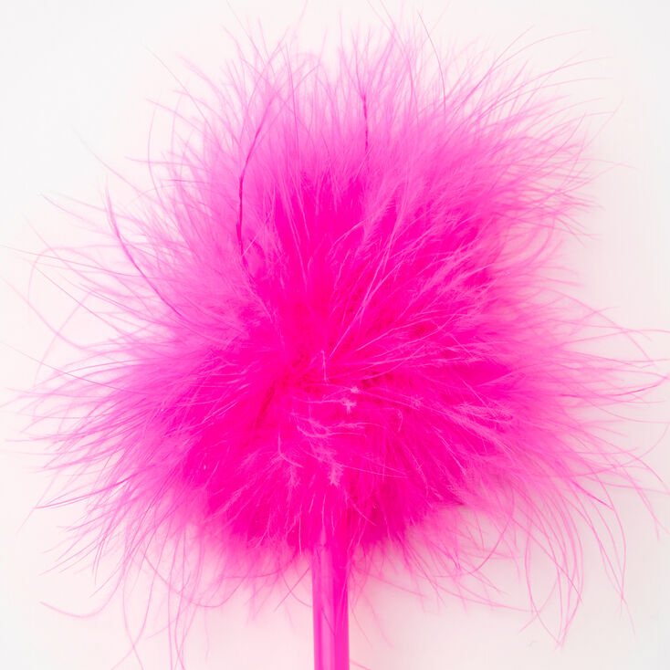 Fluffy Marabou Feather Pen - Pink,