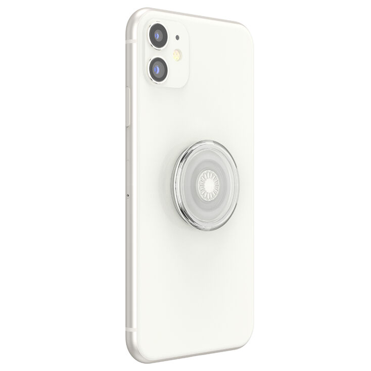 PopSockets PopGrip - Clear Silver,