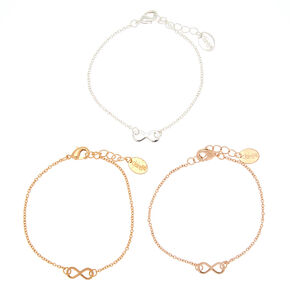 Mixed Metal Infinity Statement Bracelets,