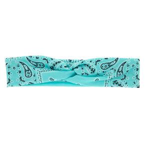 Paisley Bandana Headwrap - Turquoise,
