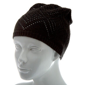 Knit Beanie - Black,