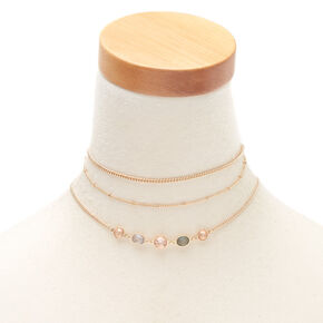 Pastel Shine Choker Necklaces - 3 Pack,