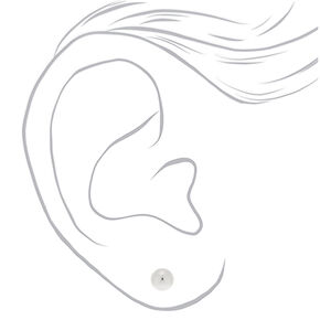 Sterling Silver Graduated Ball Stud Earrings - 3 Pack,