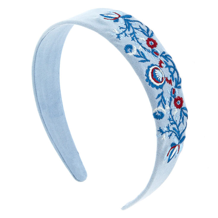 Baby Blue Flower Patch Headband,