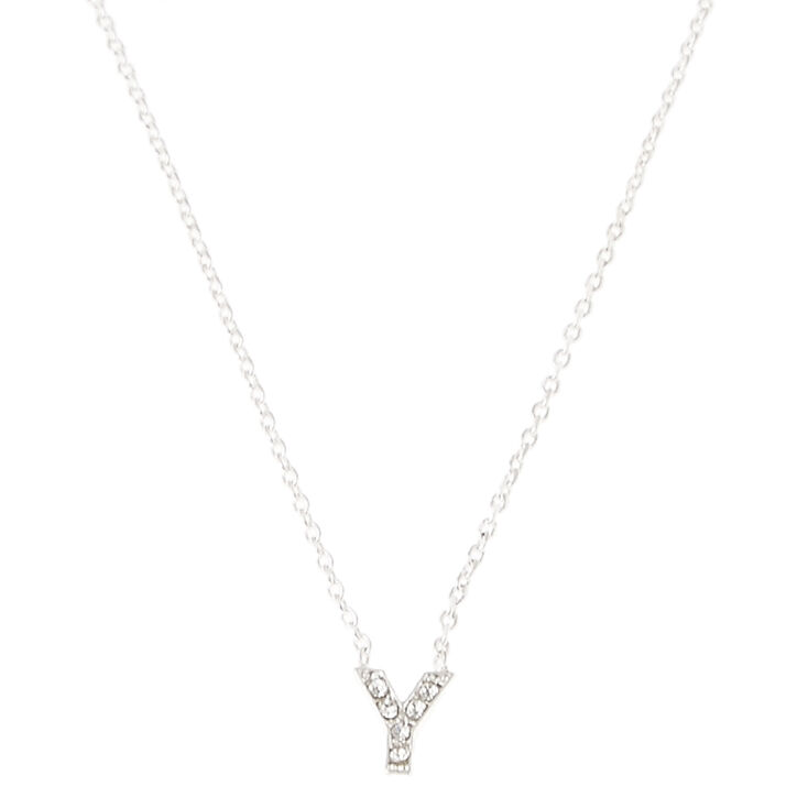 Y Pendant Initial Necklace,