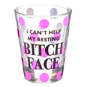 RBF Purple Polka Dot Shot Glass - Clear,