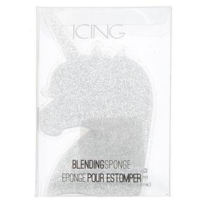 Unicorn Silhouette Silicone Blending Sponge - Silver,