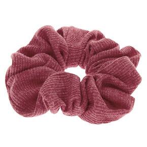 Ribbed Hair Scrunchie - Burgundy,