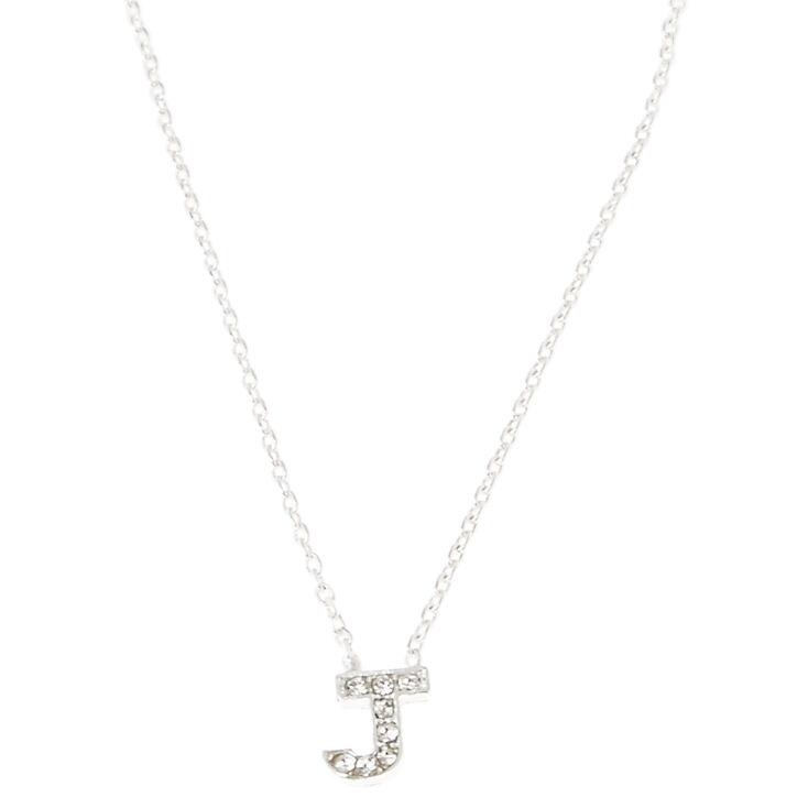 J Pendant Initial Necklace,
