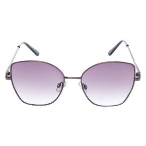 Square Cat Eye Sunglasses - Black,