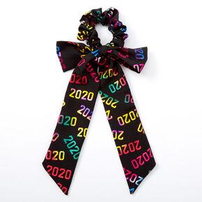 Small 2020 Graduation Bow Hair Scrunchie - Black,