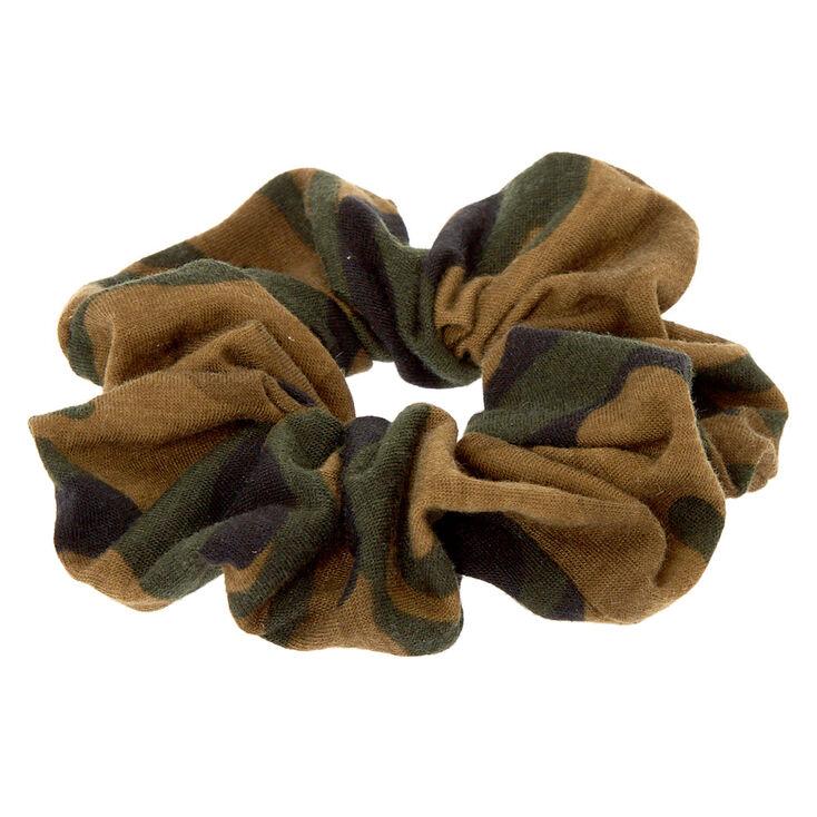 Medium Camo Print Hair Scrunchie,