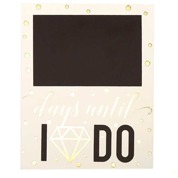 Wedding Countdown Chalkboard - White,