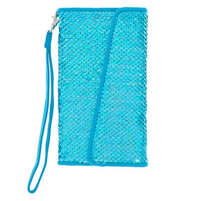 Turquoise Holographic Reversible Sequin Phone Case - Fits iPhone 6/7/8 Plus,