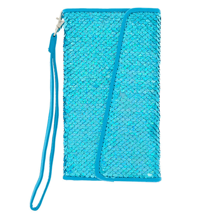 Holographic Reversible Sequin Phone Case - Turquoise,