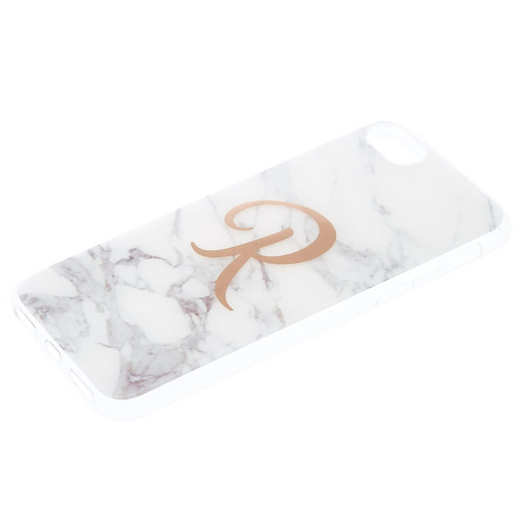 """Marbled """"R"""" Initial Phone Case,"""