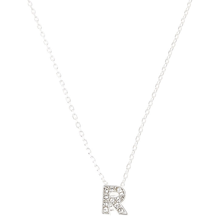 R Pendant Initial Necklace,