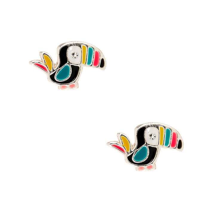 Sterling Silver Tilly the Toucan Stud Earrings,