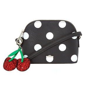 Polka Dot Crossbody Bag - White,