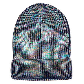 Foil Knit Beanie - Navy,