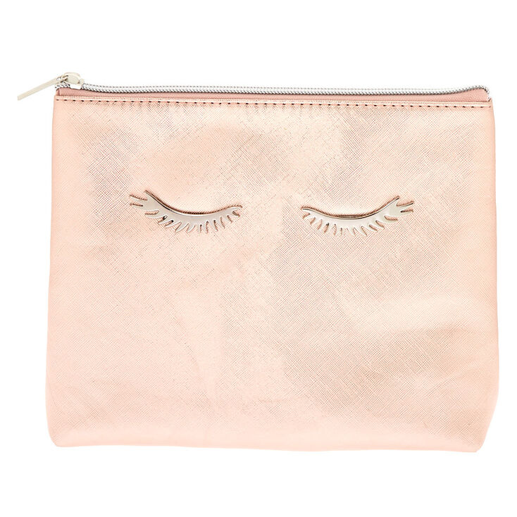 Eyelashes Makeup Bag - Rose Gold,