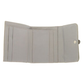 Trifold Crochet Wallet - Grey,
