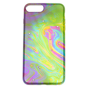 Oil Slick Stone Studded Phone Case,