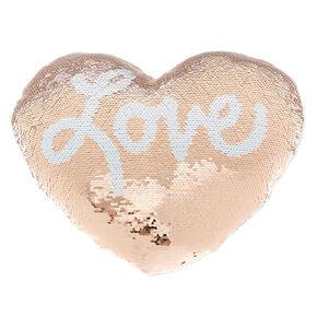 Reversible Sequin Love Pillow,