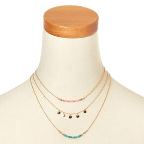Delicate Beaded Necklace Set,