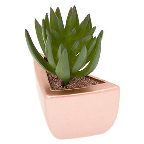 Magnetic Faux Succulent Plant - Rose Gold,