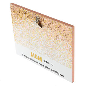 Mom Glitter Photo Clip Board,