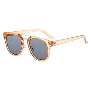 Square Brow Bar Sunglasses - Brown,