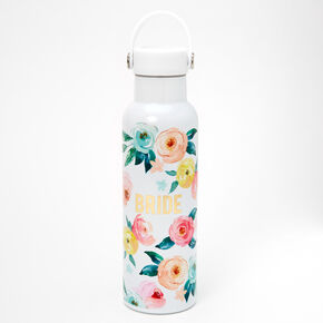 Bride Floral Water Bottle - White,