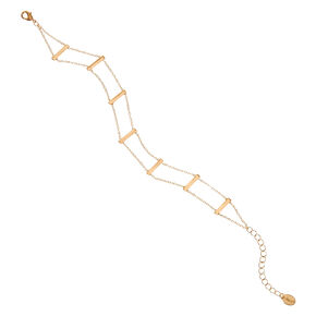 Gold Tone Ladder Anklet,