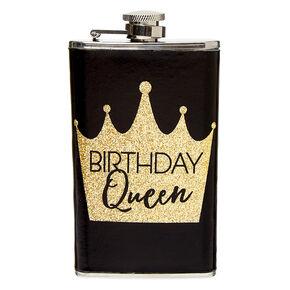 Birthday Queen Flask - Black,