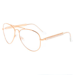 Pearl Rose Gold Aviator Frames,