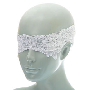 Lace Blindfold - White,