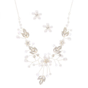 Silver Floral Vine Jewelry Set - 2 Pack,