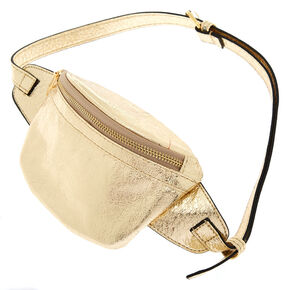 Metallic Fanny Pack - Gold,