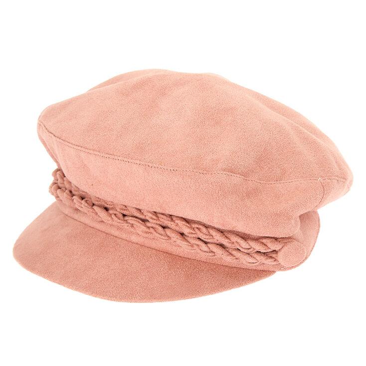 Suede Captain Hat - Pink,