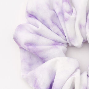 Medium Purple & White Tie Dye Hair Scrunchie,